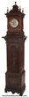 Symphonion musical grandfather clock in a tall walnut case, 92 ½ inches tall, in excellent condition (est. $7,000-$9,000).