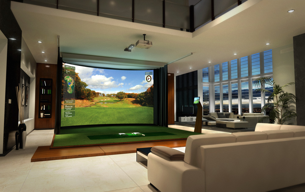 Next evolution in home entertainment hd golf simulators for Bedroom design simulator free