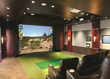 HD Golf simulator: home theatre installation