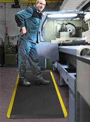 Eco-Pro Anti-fatigue Mats prevent leg, foot, and lower back fatigue and pain experienced by workers standing on hard flooring - photo