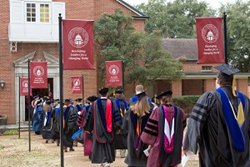 Centenary faculty members process into Brown Chapel