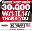 Minimizer Celebrates 30 Years With Their 30th Anniversary Sweepstakes