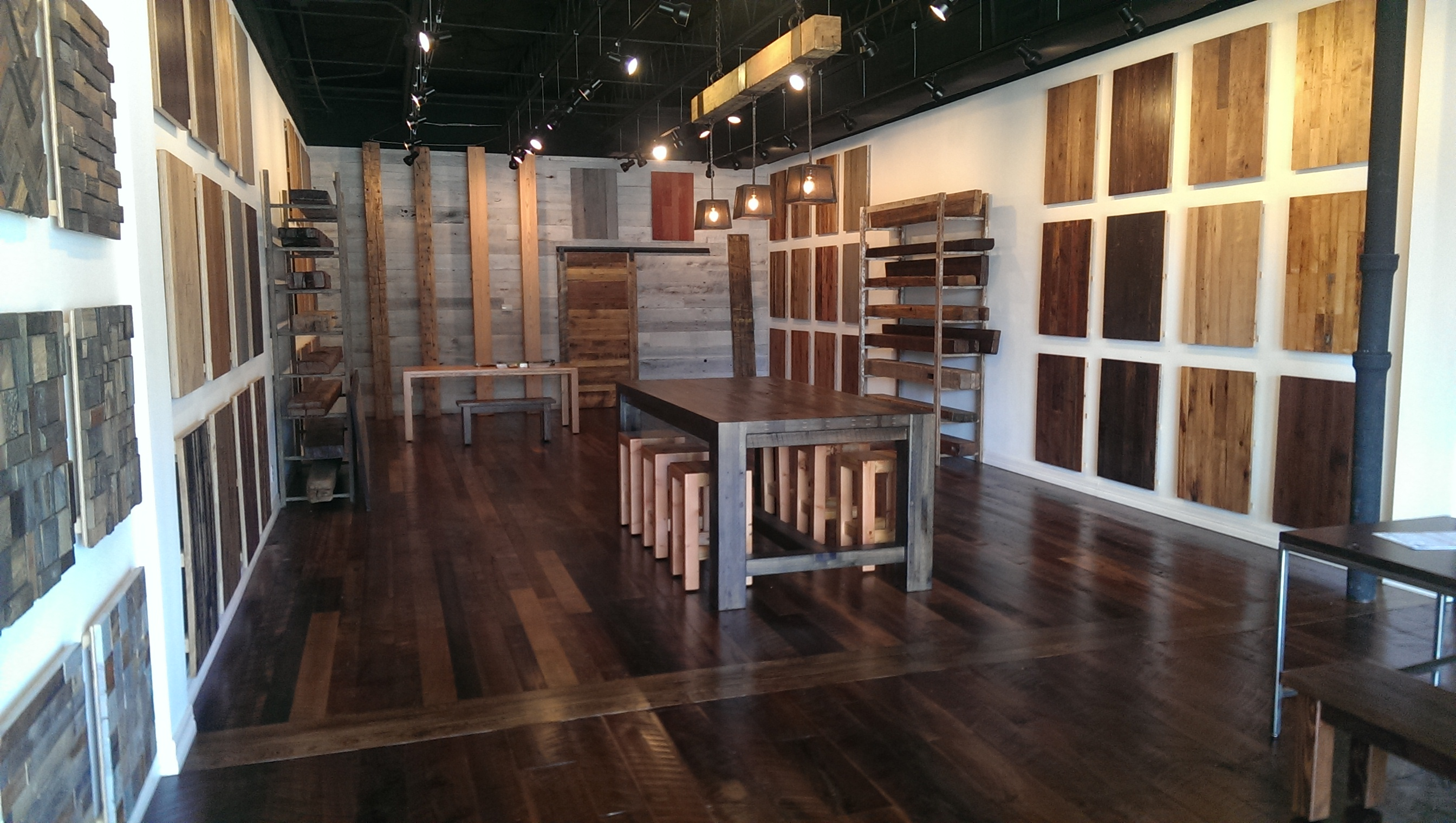 Hardwood Flooring Dallas dallas fort worth plano hardwood flooring materials and installation services offered Reclaimed Designworks Dallas Showroom