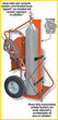 The optional built-in firewall is designed to separate cylinders while on the cart.
