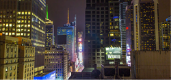 Times Square Ball Drop Hotel Room