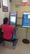 Patient using the PS2000D kiosk at Mariano's