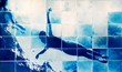 'Float' one of the photos in APOIAN's Mosaic Cyanotypes exhibit at the Melina Mercouri Gallery September 6-15th 2014.