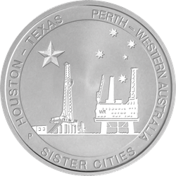 Houston-Perth 1/2 oz Sister Cities Coin (Silver)