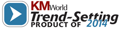 KMWorld Trendsetting Product of 2014 Logo