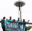 Seattle Scientologists, shown here at Seattle Center, carry out drug education and prevention programs throughout the year.