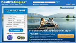 PositiveSingles.com is the largest herpes dating site for herpes singles. hiv singles or other STD singles to date and find their match. It is also the largest STD dating site.
