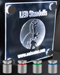 LED Standoffs with Red, Green, Blue & White Lighting