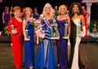 4th runner up and talent award winner Sandra Errkus, 2nd runner up Joyce Schumaker, 2014 Ms. Senior California Dr. Gayla Jackson, 1st runner up Marilee Imamoto and 3rd runner up Syni Champion.