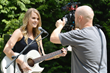 "Candice Russell on the set of her Make-A-Wish sponsored music video for her song, ""So Much More."""
