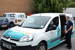 ICC Service Engineer Loads Van