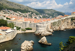 "View from Lovrijenac Fortress, often called ""Dubrovnik's Gibraltar"""