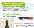 Puridiom to Participate in The Changing World of Procurement Webinar...