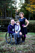 Heather Hopkins with her husband, Army Veteran Geoff Hopkins, and their son.