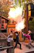 High-action stunts, 3-story falls and pyrotechnics pack the Western stunt show presented during Silver Dollar City's National Harvest & Cowboy Festival.
