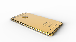 Lux iPhone 6 - 5.5 inch by Brikk in 24k Yellow Gold with Diamond Logo