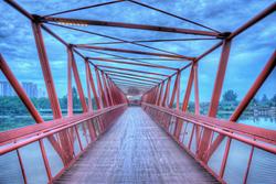 Bridge at Punggol Waterway, Singapore. CREDIT: Joshua Wong (CC)