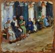 """Max Slevogt (1868 – 1932), """"Vor einem Kaffeehaus in Kairo"""" (In front of a Cairo coffee house), 1914; Foto © Kunstsammlung NRW"""