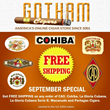 GothamCigars.com Is Giving Away Shipping on Selected Cigars Brands in September