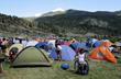 Camping at the Rancho del Rio Resort in Colorado's Gore Range.