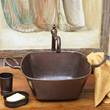 Cazo Square Copper Vessel Sink With Handles SC-SCZ From Sierra Copper