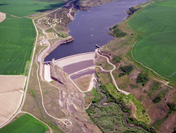 Ririe Dam in Idaho