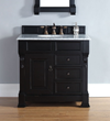 Brookfield 35″ Single Vanity In Antique Black 147-114-5536 From James Martin Furniture