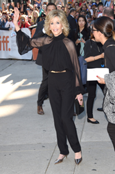 "Jane Fonda with Jill Milan Holland Park Clutch at ""This is Where I Leave You"" premiere, Toronto International Film Festival, Sept. 7, 2014. (Photo: Jason Merritt, Getty Images)"