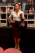 Selenis Leyva from Orange is the New Black, picks up some Hard Candy makeup during her visit to the GBK and Pilot Pen Lounge