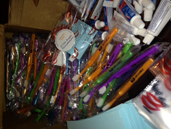 Coast Dental donated toothbrushes to the Smile Angel Foundation in Titusville, FL.