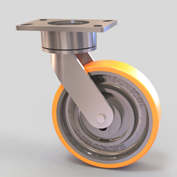 CasterShoX built in shock absorbing caster