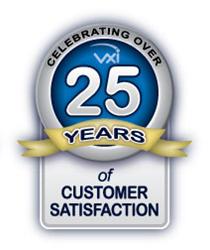 VXi Corporation celebrates 25 years of customer satisfaction.