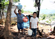 Edelrmira and Josue walk to get water in Guatemala.