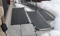 These heavy duty heated mats and stair treads melt snow and ice for safer, drier footing