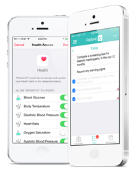 Integration allows providers to automatically upload data from HealthKit-enabled devices.