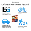 Transportation Options to Get to Lafayette Art & Wine Festival