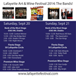 Lafayette Art & Wine Festival 2014 - Band Schedule