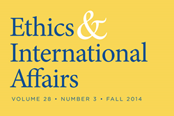 """Ethics & International Affairs"" Fall 2014"
