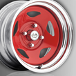 U.S. Wheel Drift Star Wheel, Red with Chrome Rim