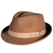 PMW81 PAMOA WOOL FELT FEDORA W/ PLAIN COTTON BOW TRIM