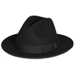PMW91 PAMOA WOOL FELT WIDE BRIM FEDORA W/ RBOW COTTON TRIM