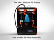 MakerMex to Launch MM1 Modular 3D Printer Capable of Printing Plastics, Ceramic, Clay, Wood, Play-Doh and Food