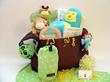 Animal Friends baby gift basket