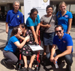 A team of volunteers from NuView IRA during a wheelchair distribution in El Salvador.