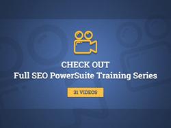 SEO PowerSuite tools training videos
