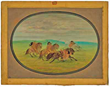 George Catlin, 19th century American painter of American Indians, Cartoon Collection, Paul Mellon Collection, National Gallery of Art, Washington, DC, Sid Richardson Museum, Fort Worth, Texas, Sundance Square, Native Americans, North American Indians, Pla